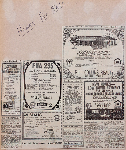 Newspaper Ad for Homes